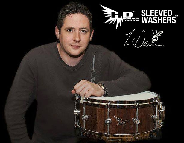 Lee Davies with Hendrix Drums Sleeved Washers Snare